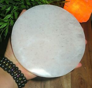 XL-Selenite-Charging-Disk-034-Plate-Station-6-034-Round-Crystal-Tile-Reiki-Heal-Energ