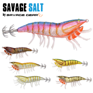 SAVAGE GEAR SQUID FISHING LURE 3D HYBRID SHRIMP EGI 7.5cm//12g