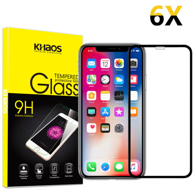 """cheap for discount 95f66 7e681 6x KS for Apple iPhone XS Max 6.5"""" Full Cover Tempered Glass Screen  Protector"""