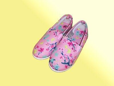 Mädchen Stoffschuhe Schuhe Ballarinas Sommerschuhe Slipper Gr. 26-28 Farbe wählb