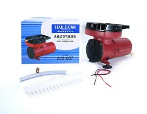 Haustierbedarf Hailea Aco-007 Transportbelüfter 12v Pkw Kolbenkompressor Luftpumpe 140 L/min PüNktliches Timing