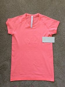 Lululemon-Heather-Flash-Neon-Pink-Swiftly-Tech-SS-Crew-T-Shirt-Top-NWT-10