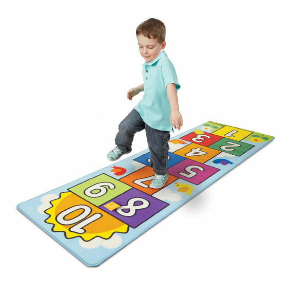 Melissa and Doug 19402 - Hop and Count Hopscotch Rug - NEW