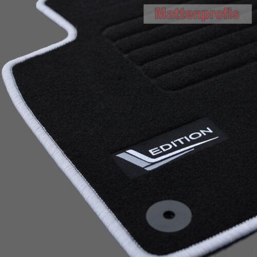 Mattenprofis Velours Fußmatten Edition für VW Tiguan 5N ab Bj.2007-2016 silb