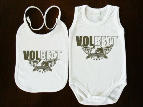VOLBEAT BIBS+BABY BODYSUIT ONE PIECE CLOTHING  FUNK ROCK STARS