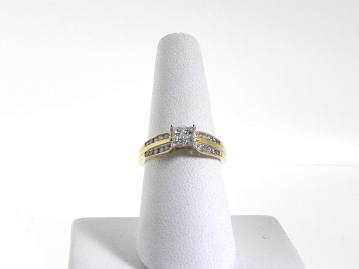 .40Ct Invisible Set Diamond Ring Ladies Engagement 14K Yellow gold Size 7