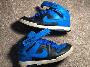 Details about Nike SB Mogan Mid 2 JR B Kid Skateboard 645025-400 Blue/Black Shoes Size 7Y