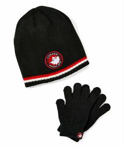 New-Unisex-Kids-039-Winter-Beanie-Hat-amp-Gloves-Set-by-Canada-Weather-Gear-Brand-ski