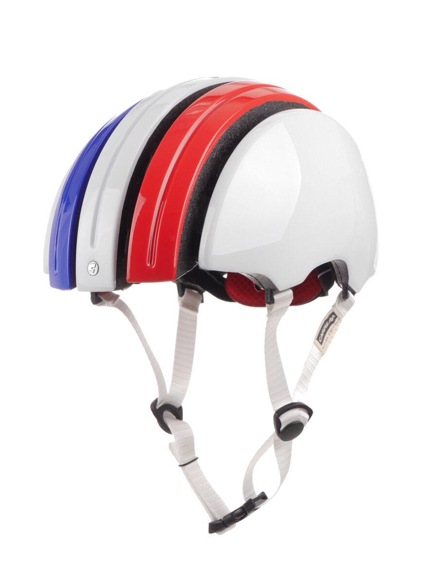 Carrera Fahrradhelm Helm Schutzhelm white Foldable GTE_C Frankreich
