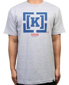 KR3W-Tee-Denim-Co-Bracket-Grey-Heather-FREE-POST-Krew-Skateboard-T-Shirt