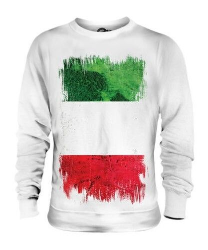 Italie Drapeau Grunge Unisexe Pull Italie Football Italien Cadeau T-Shirt