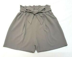 **new 2019 Look Grey Paperbag Plus Size & Curve High Waist Paper Bag Shorts Uk** Ideales Geschenk FüR Alle Gelegenheiten