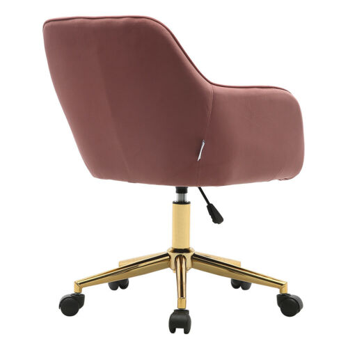 Swivel Desk Chairs Gas Lift Low Back Armchair Occasional Sofa Home Office Seats Coffee,Pink,Orange,Yellow,Grey,Green