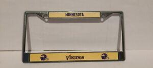 NFL Minnesota VIKINGS License Plate Cover   New Metal Frame