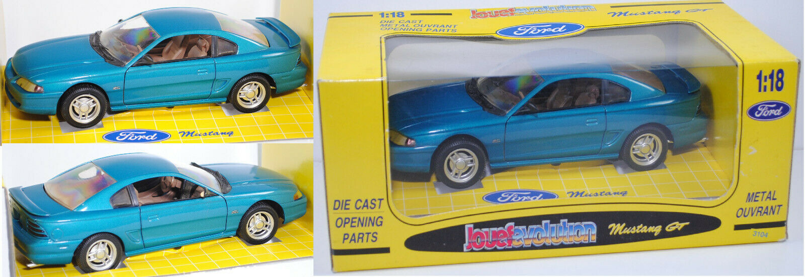 Revell 3104 Ford Mustang GT Coupé deep forest green, 1 18