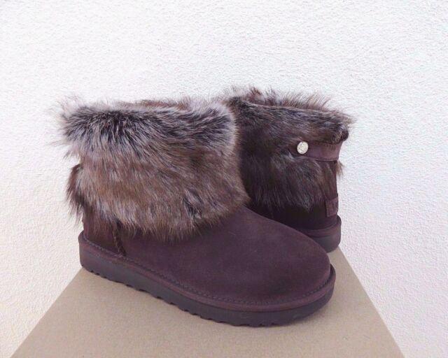bc72579a6 UGG VALENTINA DEMI SUEDE SHEEPSKIN TOSCANA CUFF BLING BOOTS, US 6/ EUR 37 ~
