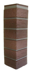 Details About Mobile Home Rv Novik Red Used Blend Simulated Brick Skirting Corner 5 Pieces