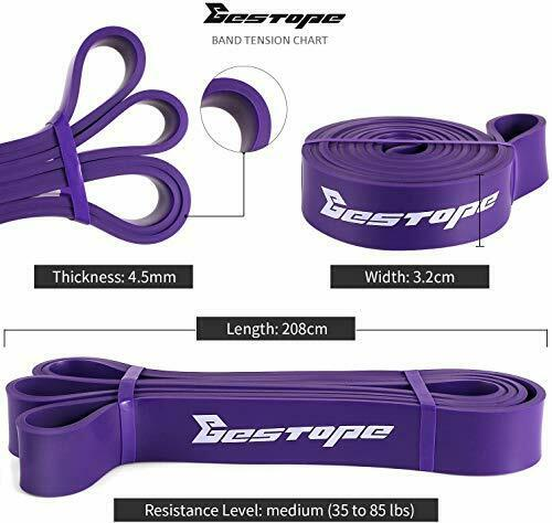 BESTOPE Resistance Bands Pull Up Assist Bands for Powerlifting and Yoga Premium