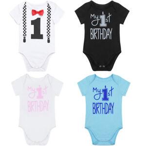 4adf534b9 Image is loading Newborn-Infant-Baby-Boy-Girl-Birthday-Bodysuit-Romper-