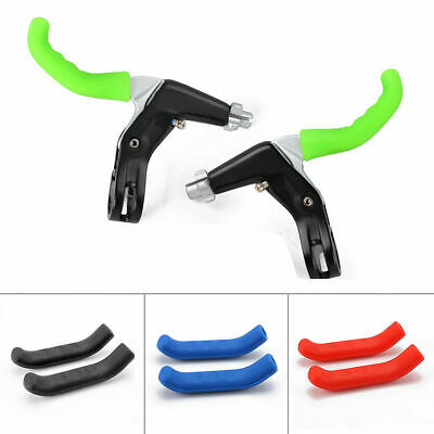 2 Pcs Silicone MTB Bike Bicycle Brake Lever Grips Protector Sleeves Covers