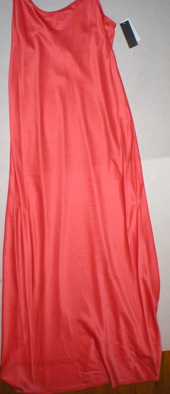 NWT New Designer Natori Night Gown orange Sherbert  S Long Womens Pretty Sorbet