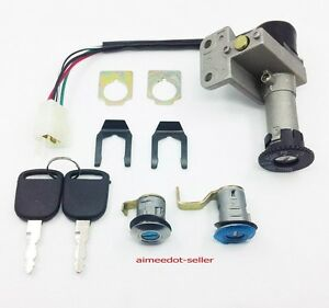 4 WIRE IGNITION SWITCH KEY SET MOPED SCOOTER FOR 50 50CC M KS08