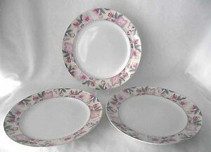Arita-Chintz-Dinner-Plates-Pink-Green-Floral-New-Tradition-Japan-3-China-Vintage