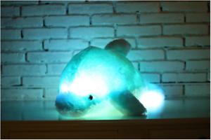 Delfin Orsacchiotto Peluche splendono con LED Blu Bambini Wal