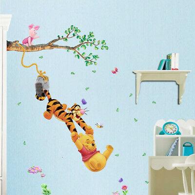 Cartoon Bear and Tigger Wall Sticker Decal Kids Room Baby Nursery Removable