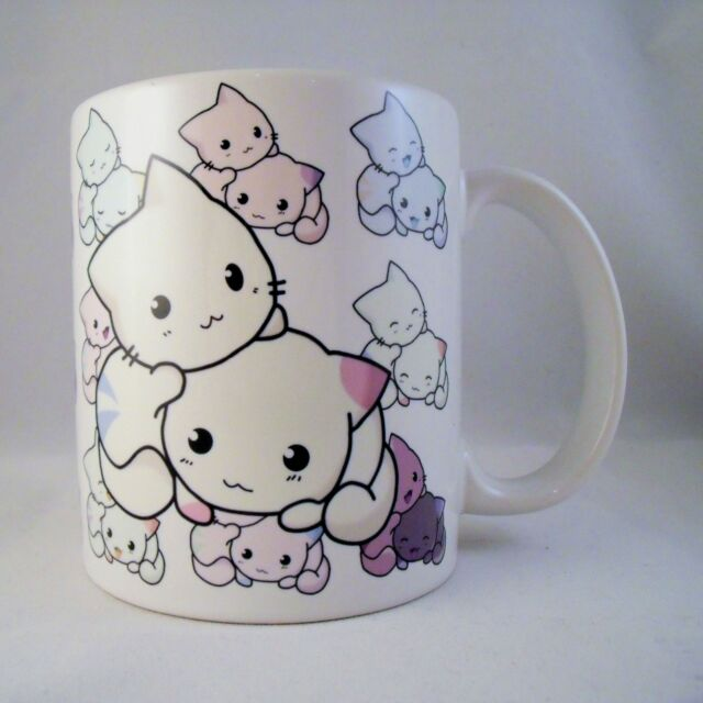 Cute Kitty - Coffee Mug - Kawaii - Cartoon - Anime - Chibi - Cup - Gift - Hello