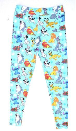 Disney Parks Dog Leggings Pluto Stitch Dalmatians Large L Women New
