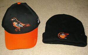 90650be35a998 Image is loading Baltimore-Orioles-Baseball-Cap-amp-Knit-Cap