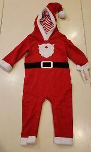 408587b7eff02 Cat and Jack Baby Christmas Outfit, Santa Beard Elf Hat/Hood, 12M ...