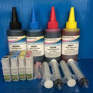 REFILLABLE-Cartridges-400ml-INK-Epson-Expression-Home-XP415-XP422-XP425-Non-OEM