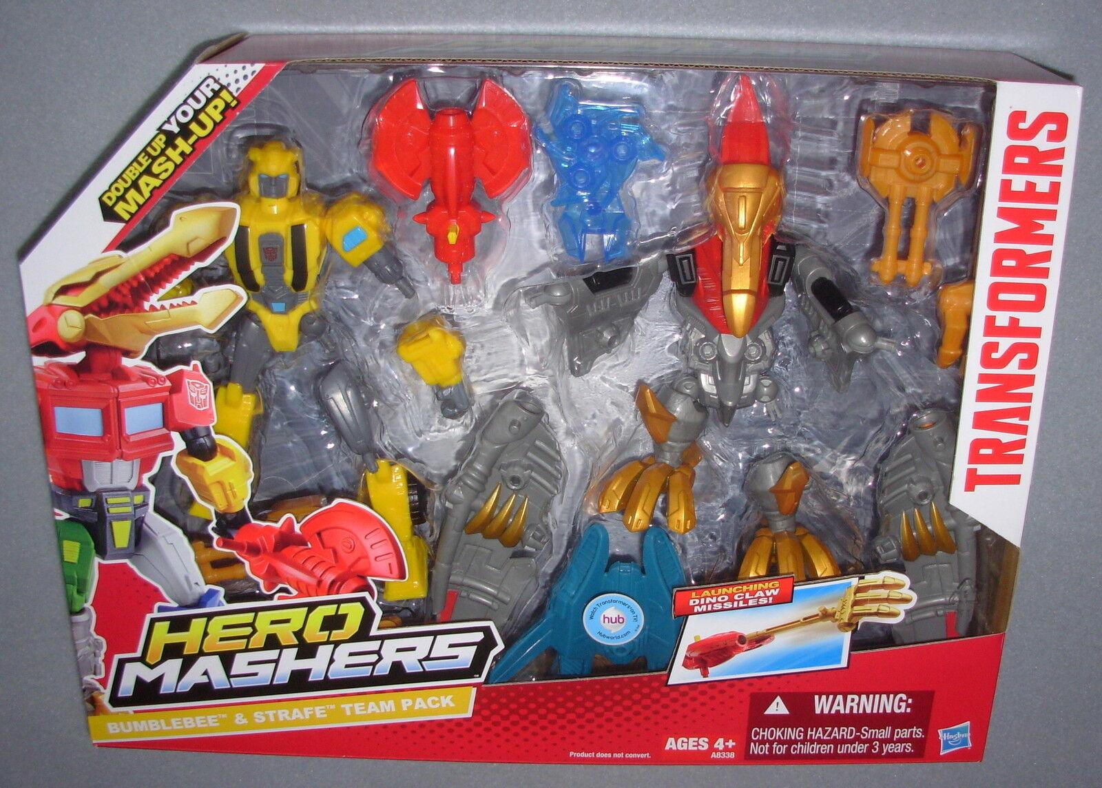 TRANSFORMERS HERO MASHERS BUMBLEBEE & STRAFE FIGURE BOX SET MIB