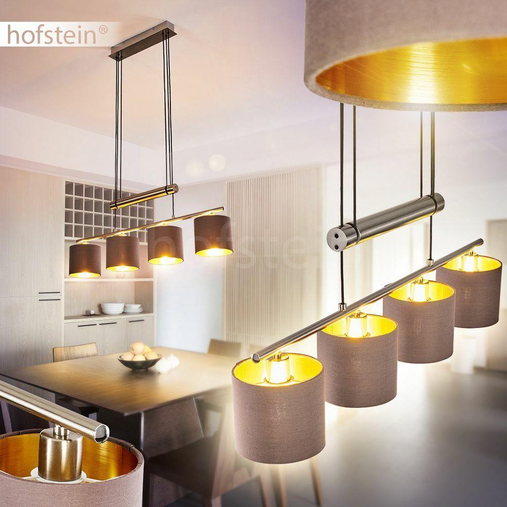 Stoff weiß Pendel Leuchte Hänge Lampe Vintage Ess Wohn Schlaf Zimmer Beleuchtung