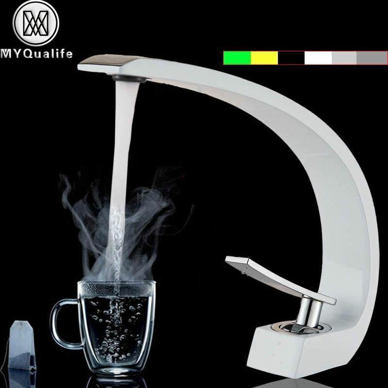 Creative Design bacino lavandino rubinetto singola maniglia Bagno Bianco Arancione lavaggio