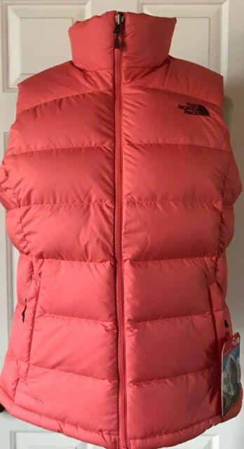 9545c85cf4 NWT Womens The North Face Nuptse 2 Puffer Vest 700 Fill Down Spiced Coral S  M L