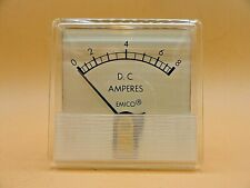 Analog Emico Panel Meter Dc Ammeter 0 8 Amps Lot Of 2
