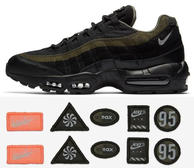 the best attitude c3e15 3469c Mens Nike Air Max 95 Hal Black Cargo Khaki Flat Silver Ah8444-001 US ...