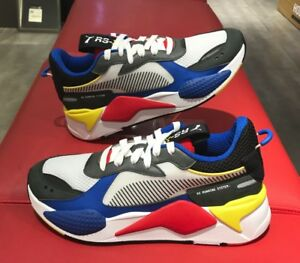 7b3bd3185b5bb New PUMA RS-X Toys Unisex Athletic Shoes Sneakers White/Royal/Red ...