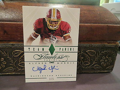 Panini Flawless Autograph Emerald Auto Redskins Alfred Morris  3/5    2014