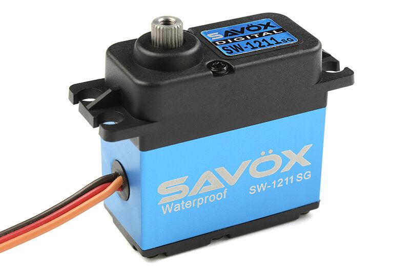 Nuevo Savox Impermeable Digital Servo Coreless .10 208.3 caso de alumbre SAVSW 1211SG Nuevo En Caja