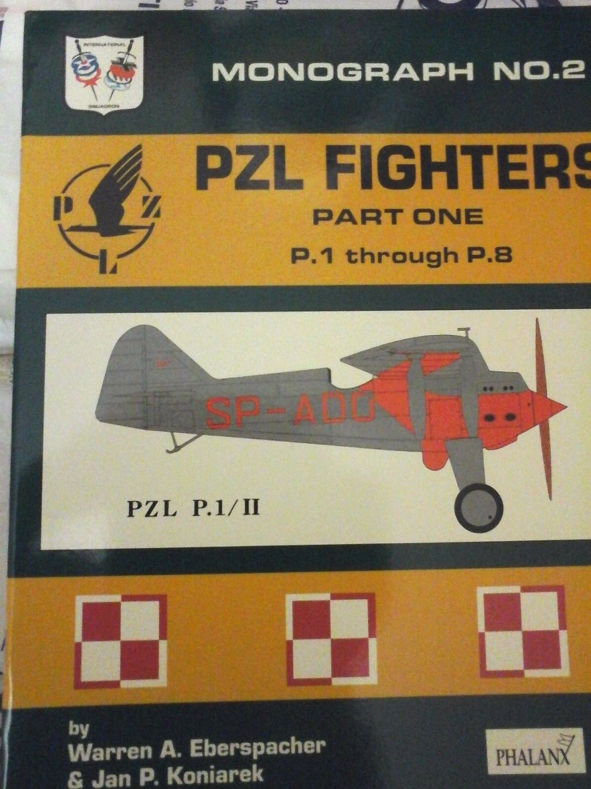 MONOGRAPH N.2- PZL FIGHTERS PART.1 -BY W. EBERSPACHER-PHALANX PUBLISHER