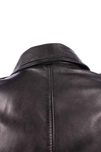 100/% in pelle Moda Donna Biker Giacca Di Pelle Nera BRANDO SERIE Taglia 8-20