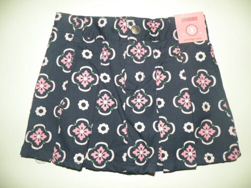GYMBOREE SMART GIRLS RULE NAVY w// MEDALLION WOVEN SKORT 3 4 NWT