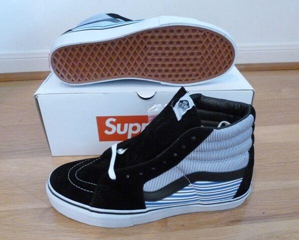 NEW Supreme x Comme Des Garcons Shirt CDG Vans Sk8 Hi Pro Sneakers SS12 DS AUTH