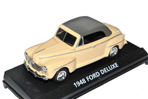 Ford Deluxe 1948 beige convertible con Soft top 1//43 Motormax modelo coche con o Oh