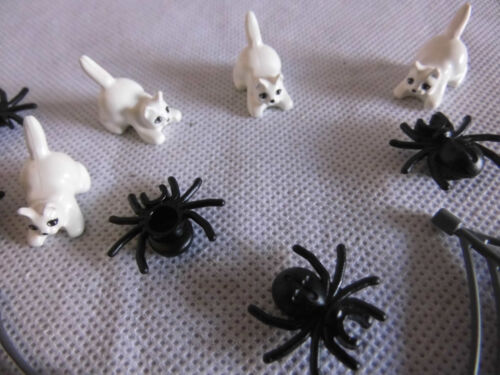 4 CAT White New Lego Collection resolution 2x Spider Web 5 Spiders Black