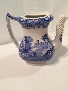 Blue Italian Coffee Maker : Spode Blue Italian Coffee Pot without lid ~new~ eBay